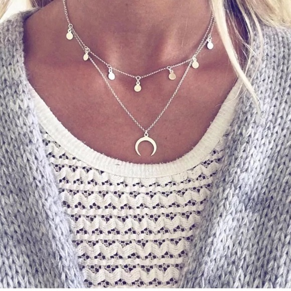 Jewelry - Layered Moon Necklace
